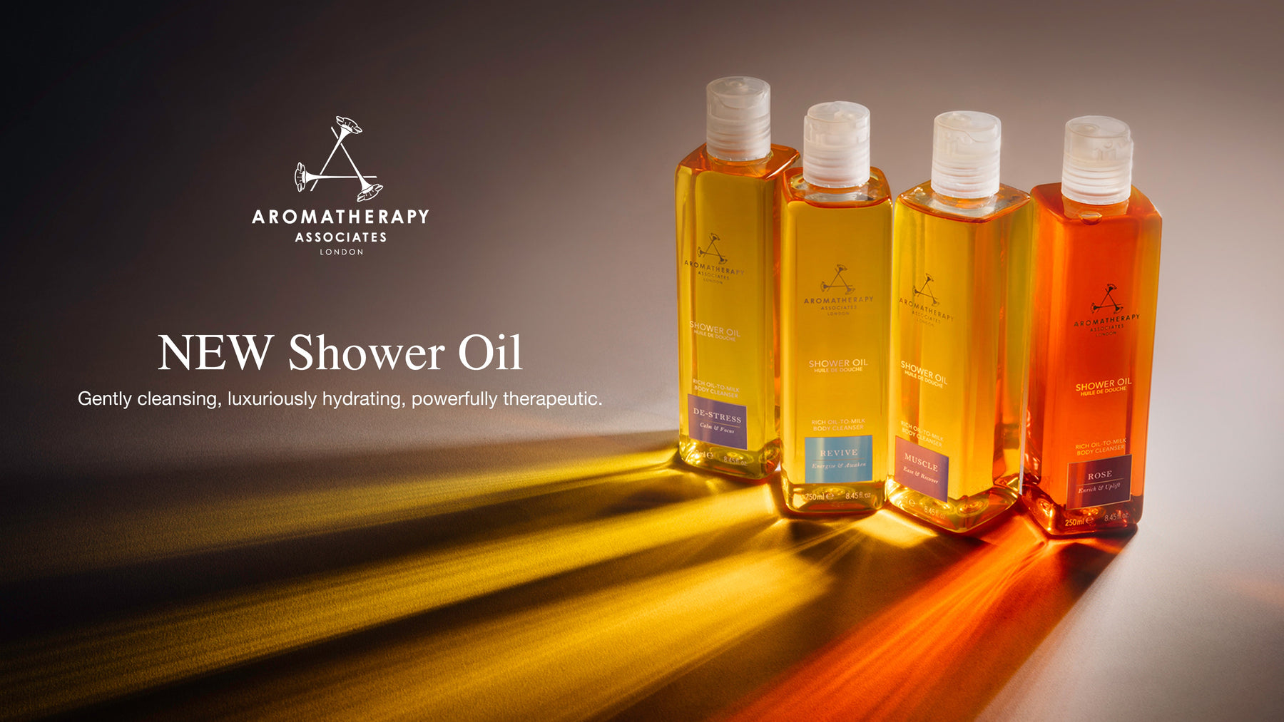 New Aromatherapy Associates Shower Oils