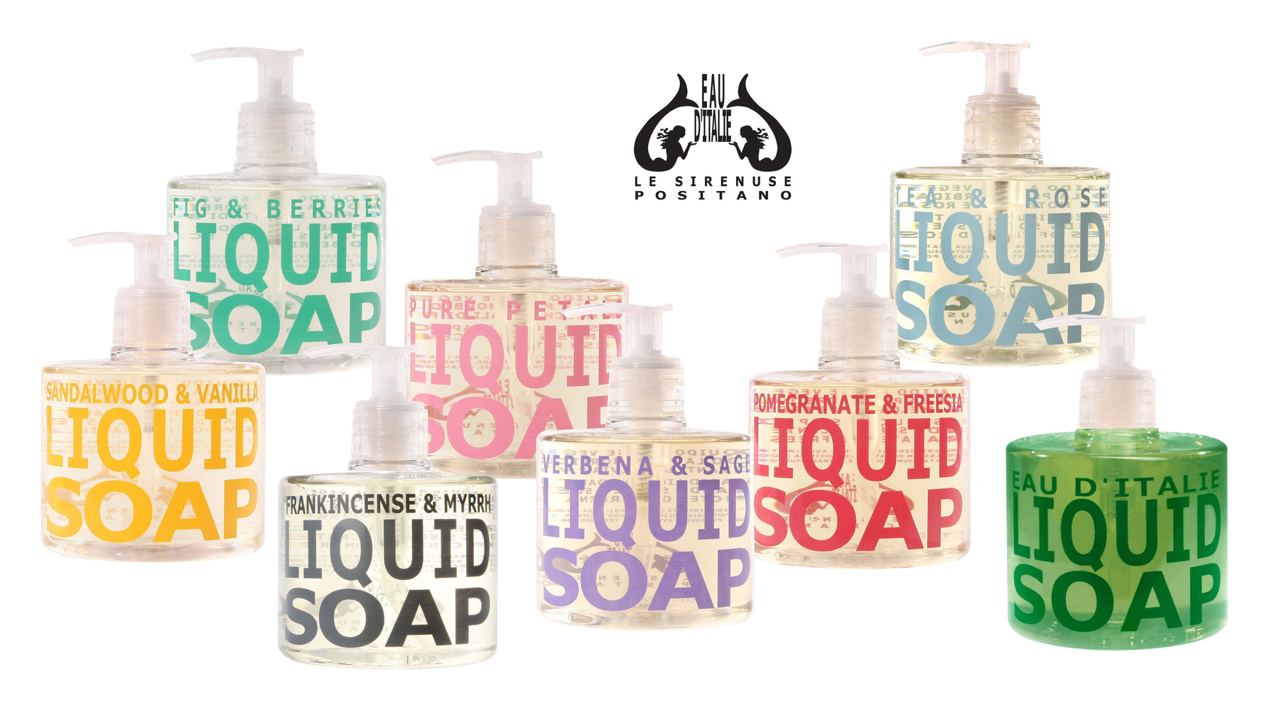 The Eau d'Italie Collection of Liquid Soaps