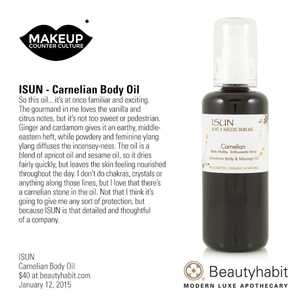 ISUN, Carnelian Body Oil, Beautyhabit