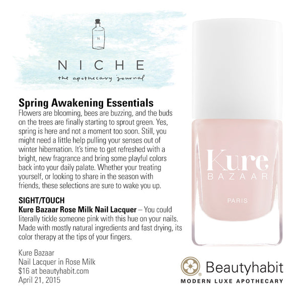 Kure Bazaar, Nail Lacquer in Rose Milk, Beautyhabit