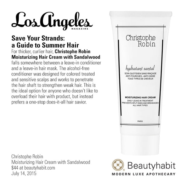 Christophe Robin, Moisturizing Hair Cream with Sandalwood, Beautyhabit