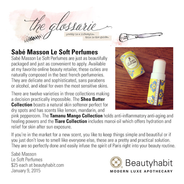 Sabe Masson, Le Soft Perfume, Beautyhabit