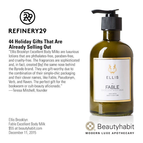 Ellis Brooklyn, Fable Excellent Body Milk, Beautyhabit