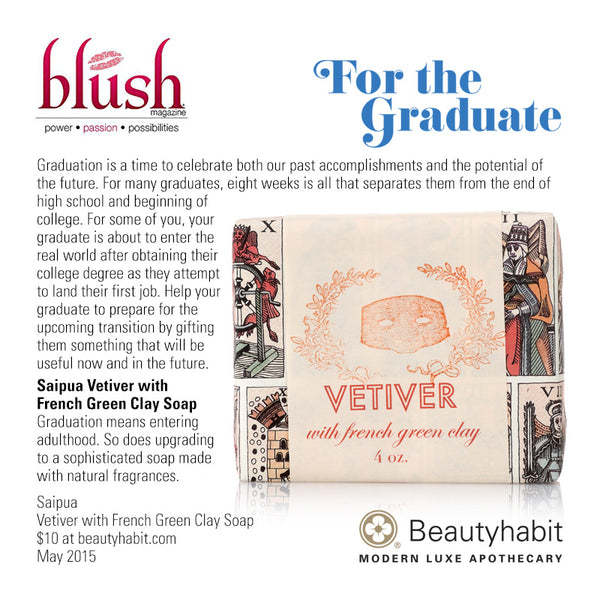 Saipua, Vetiver with French Green Clay Soap, Beautyhabit
