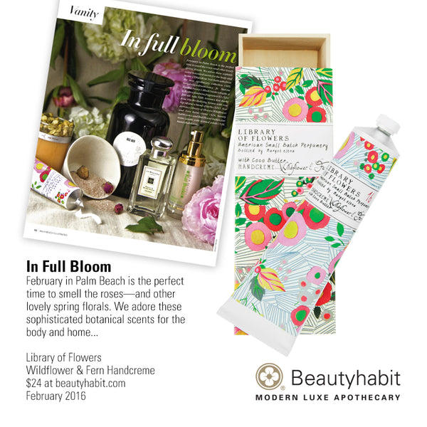 Library of Flowers, Wildflower & Fern Handcreme, Beautyhabit