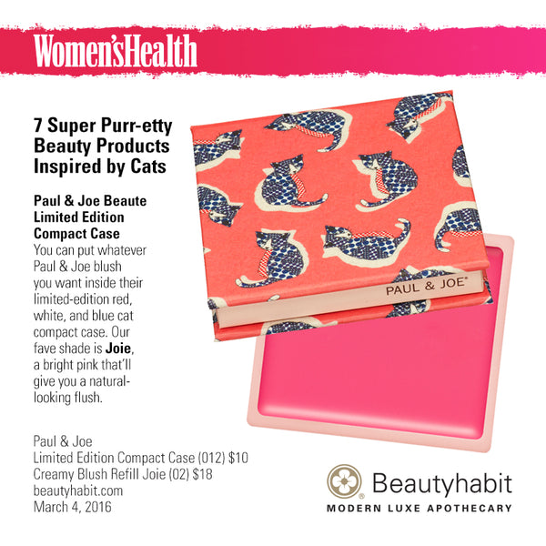 Paul & Joe, Limited Edition Compact Case (012) and Creamy Blush Refill Joie (02), Beautyhabit
