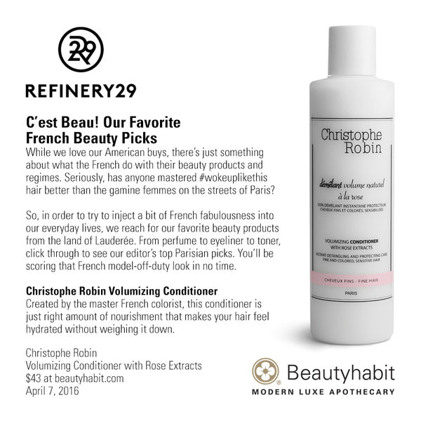 Christophe Robin, Volumizing Conditioner with Rose Extracts, Beautyhabit