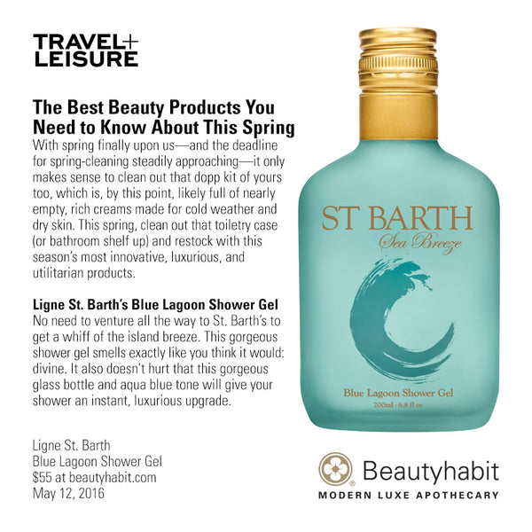 Ligne St. Barth, Blue Lagoon Shower Gel, Beautyhabit