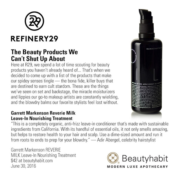 Garrett Markenson REVERIE, MILK Leave-In Nourishing Treatment, Beautyhabit