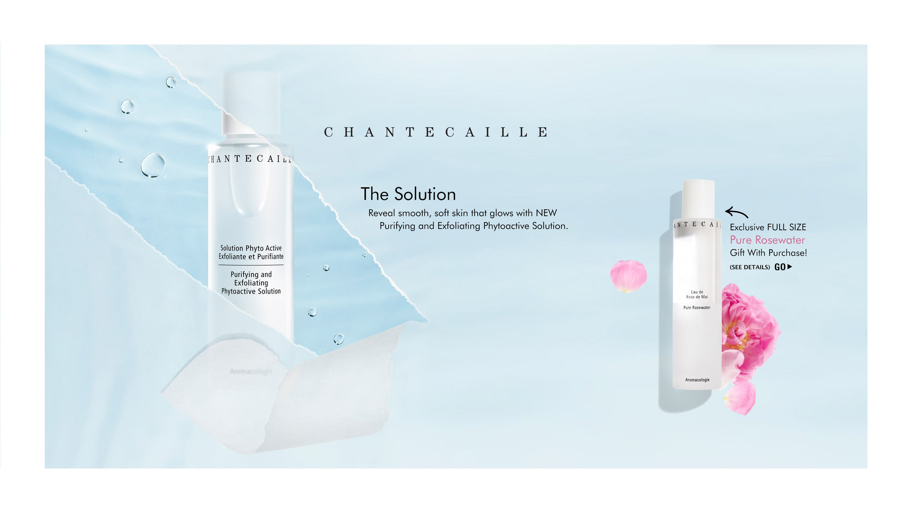 Chantecaille - The Solution: Reveal smooth, soft skin that glows with NEW Purifying and Exfoliating Phytoactive Solution. Exclusive FULL SIZE Chantecaille Pure Rosewater Gift With Purchase! SEE DETAILS - GO!