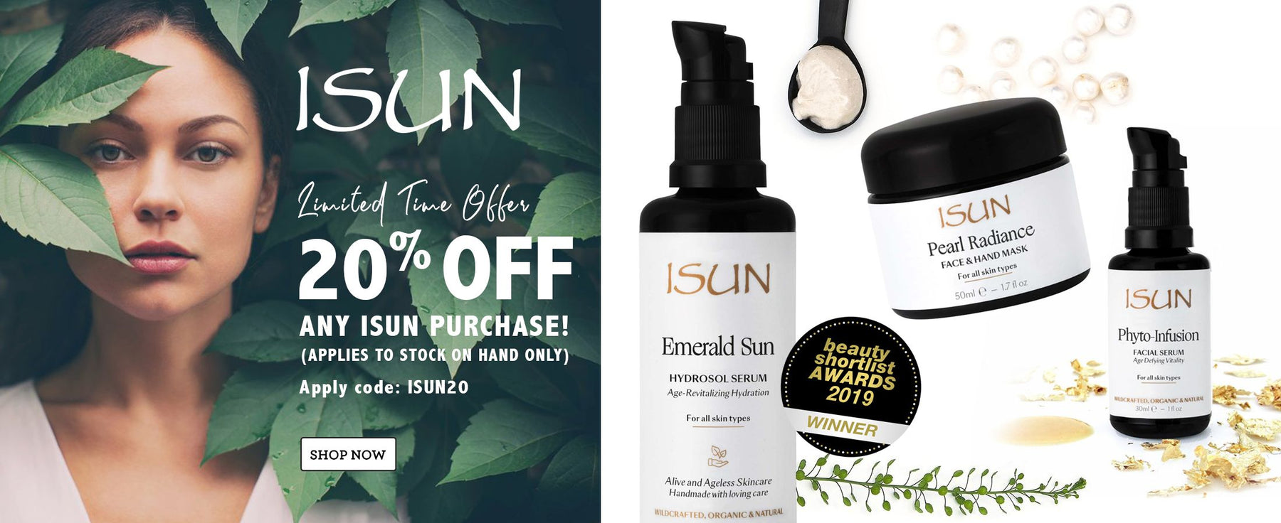 ISUN Limited Time Offer, SHOP NOW. 20 % Off ANY ISUN purchase! Applies to stock on hand only. Apply code: ISUN20