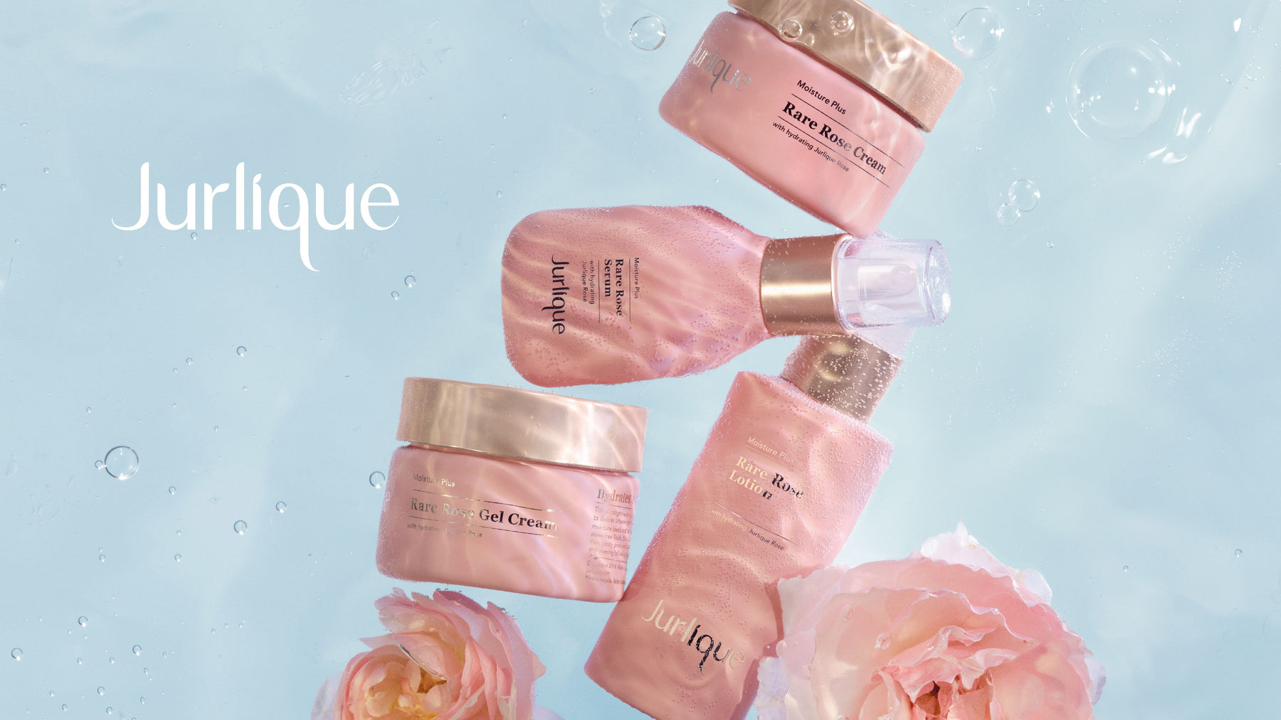 Jurlique New Moisture Plus Rare Rose Collection. Clinically proven to deliver 24-hour hydration.