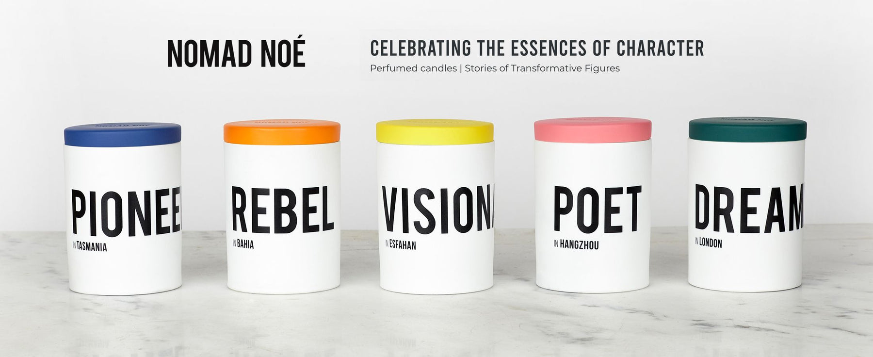 Nomad Noe - Celebrating the essences of character. Perfumed candles | Stories of Transformative Figures