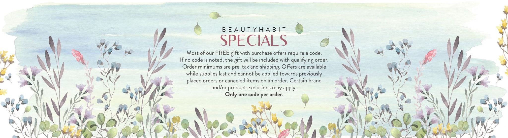 Special offers and free gifts from Beautyhabit
