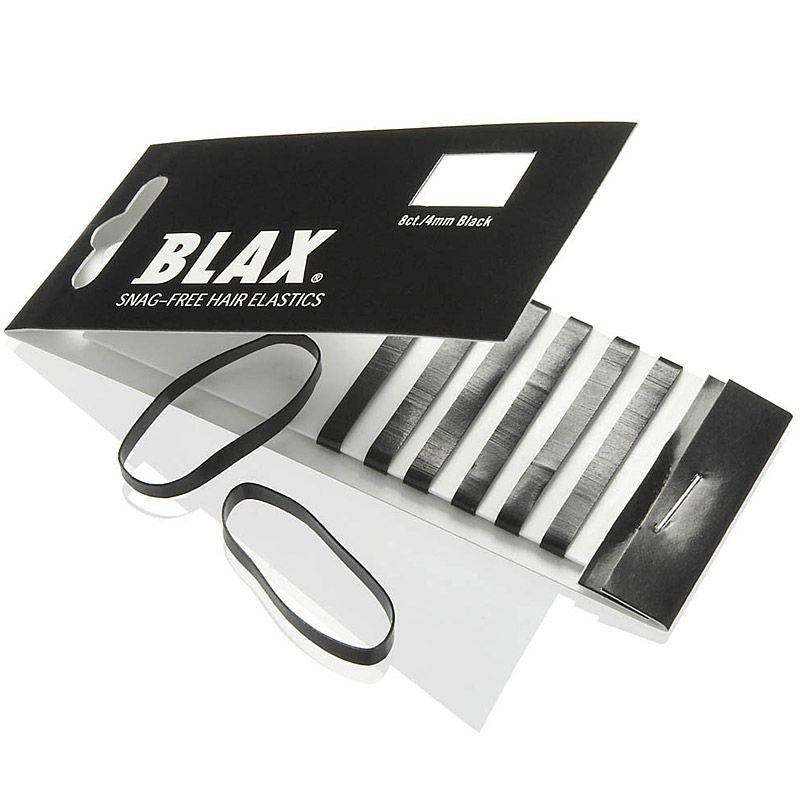 Blax + Smoothies BLACK Hair Elastics (8 pcs, 4 mm)