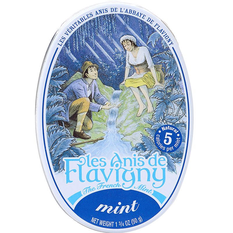 Les Anis de Flavigny Mint Flavored Hard Candy (1.75 oz) Lid CLosed