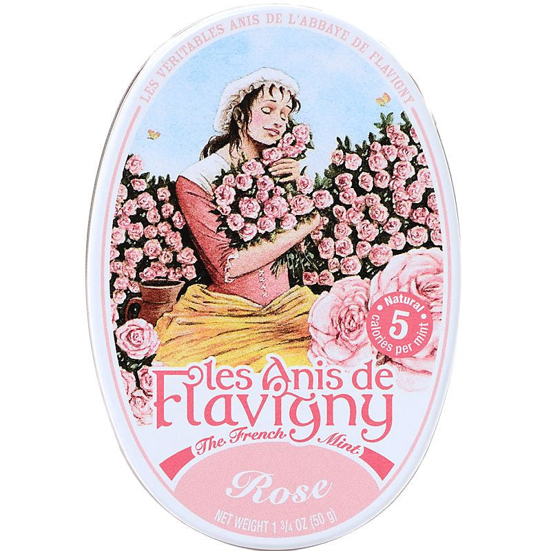 Les Anis de Flavigny Rose Flavored Hard Candy (50 g)