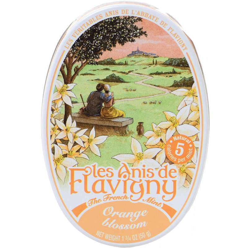 Les Anis de Flavigny Orange Blossom Flavored Hard Candy (1.75 oz) Lid