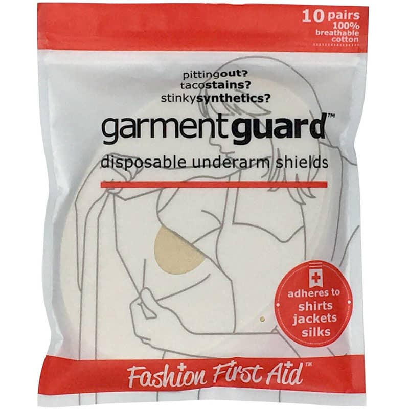 Fashion First Aid Garment Guard Disposable Underarm Shields (10 Pairs, Beige)