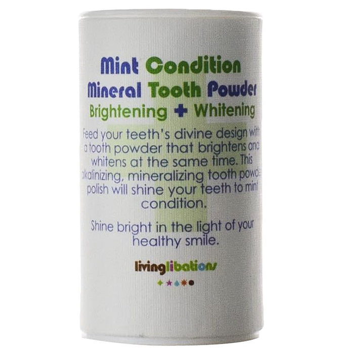 Living Libations Mint Condition Mineral Tooth Powder (30 ml)