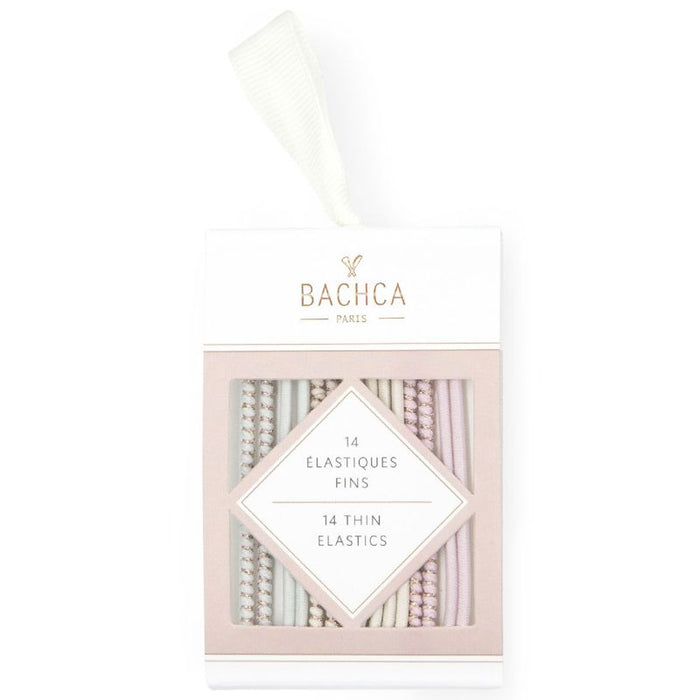 Bachca Thin Pastel Elastics in packaging