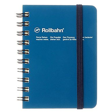 Rollbahn Spiral Notebook Pocket Memo - Blue