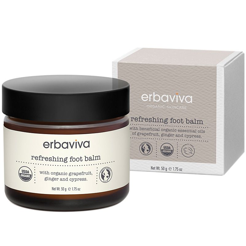 Erbaviva Refreshing Organic Foot Balm with box