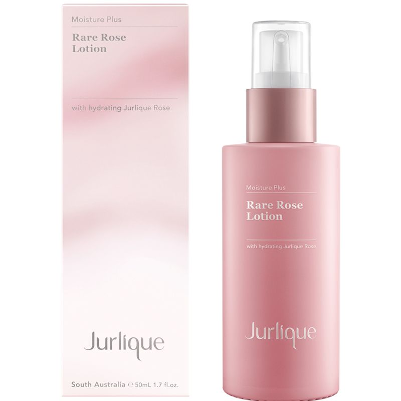Jurlique Moisture Plus Rare Rose Lotion (50 ml) shown with box