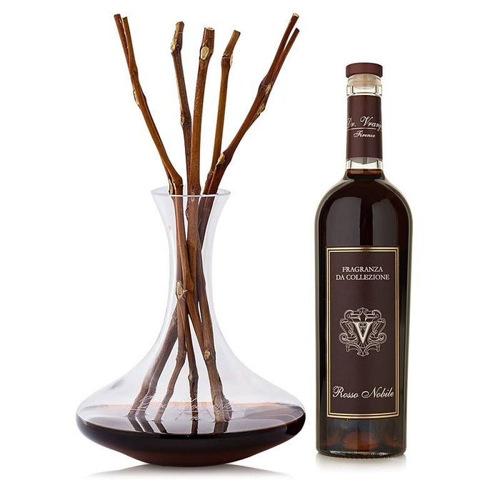 Rosso Nobile Decanter and Bottle