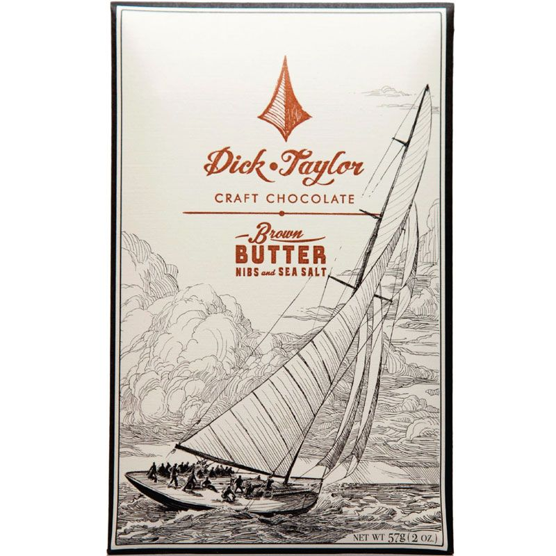 Dick Taylor Brown Butter With Nibs and Sea Salt Chocolate Bar (2 oz)