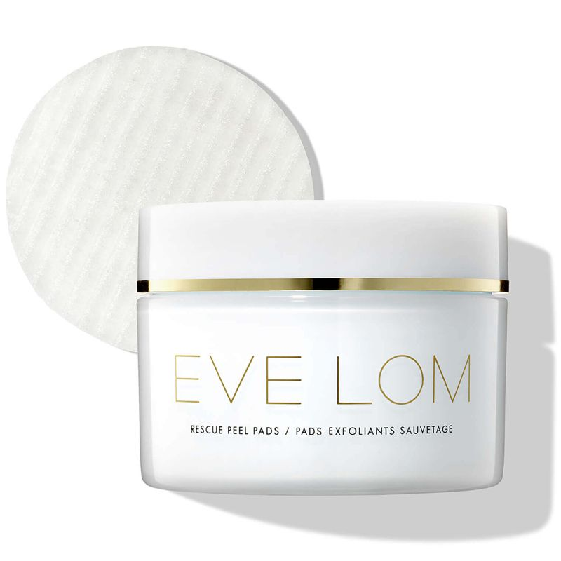 Eve Lom Rescue Peel Pads (60 pads) Jar with one pad out