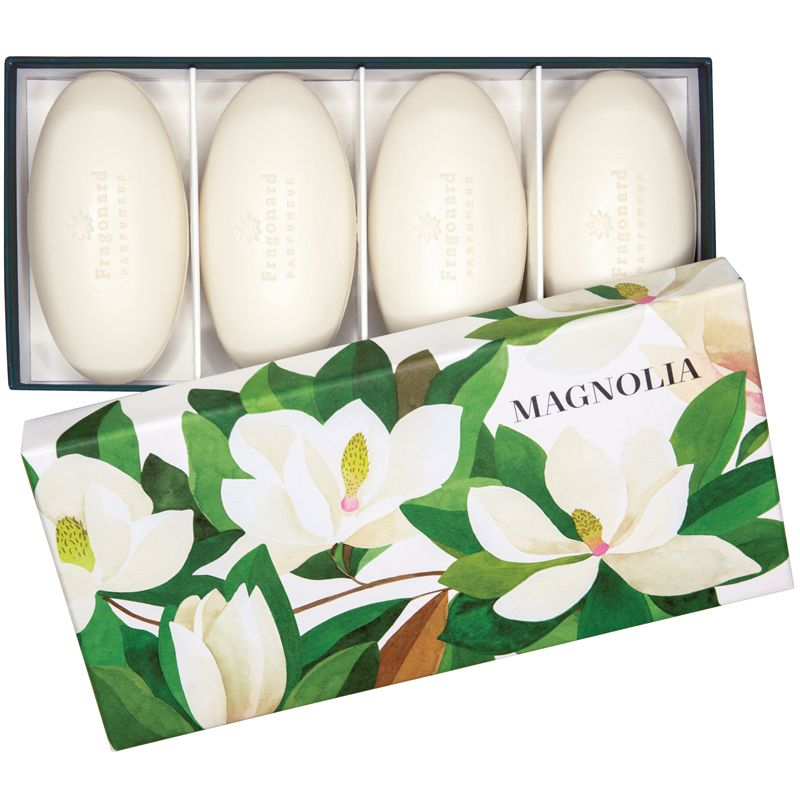 Fragonard Parfumeur Magnolia Set of 4 Perfumed Soaps (4 x 50 g) open box