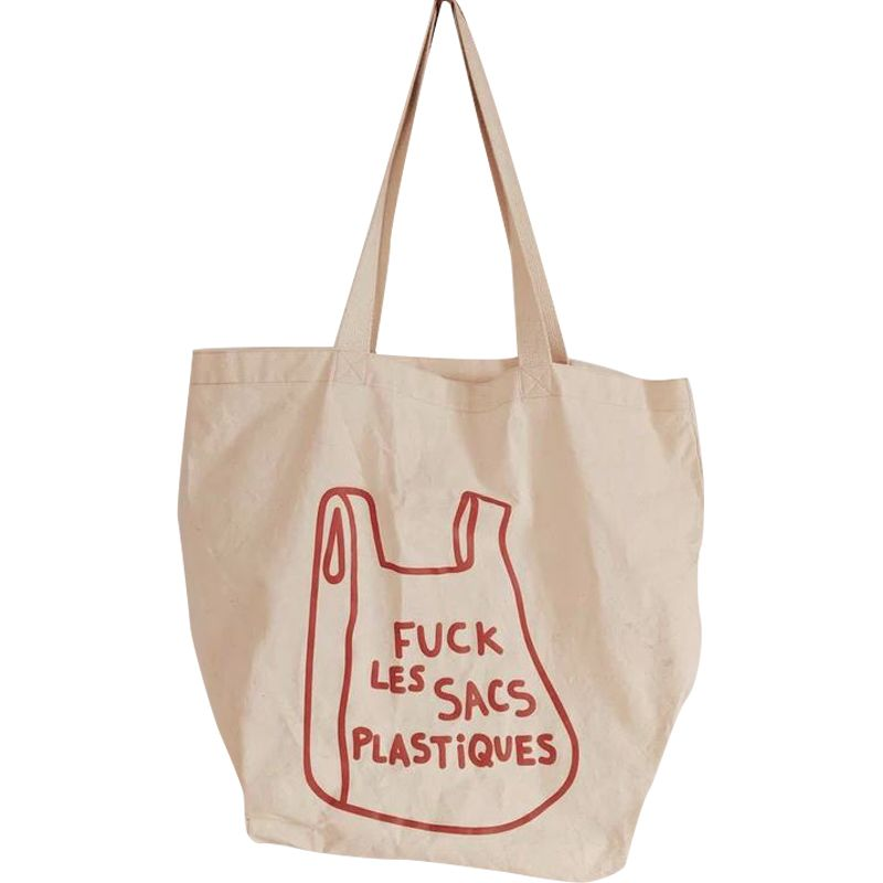 Mimi & August F&$! Plastique French Printed Cotton Tote Bag (1 pc)