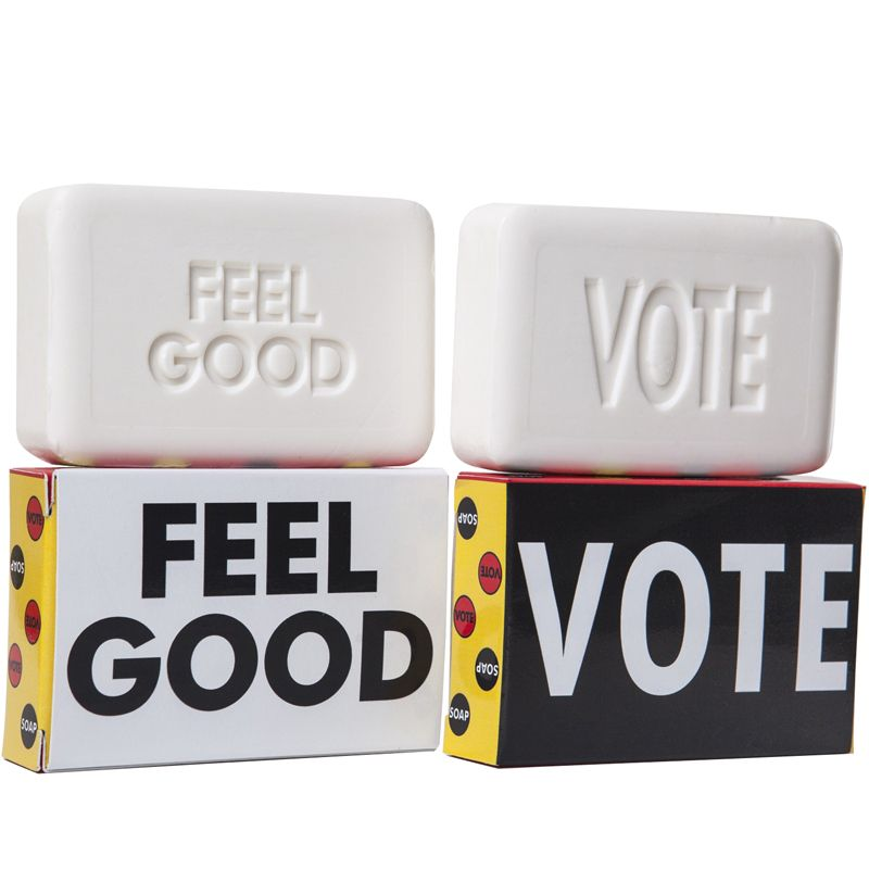 Kalastyle Statement Soaps! Vote Soap - showing front and back