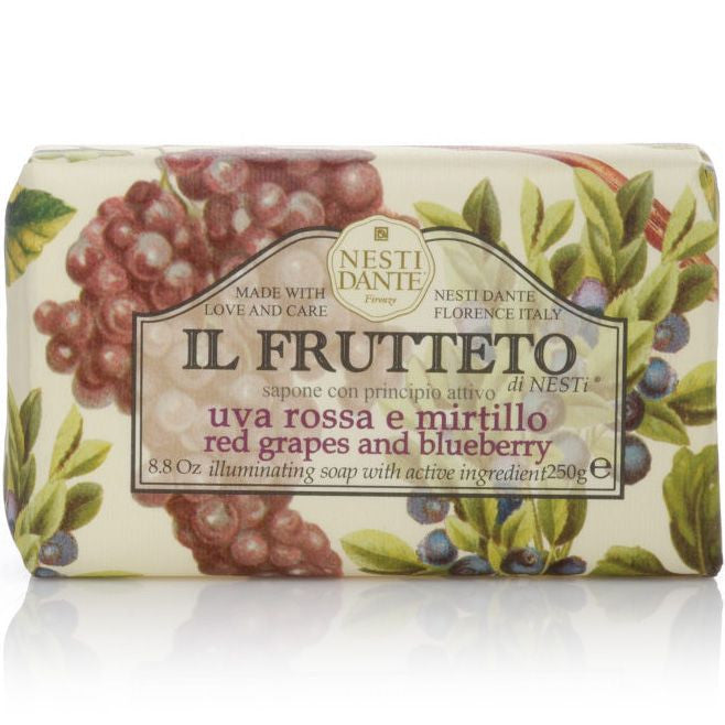 Nesti Dante Il Frutteto Bar Soap (Red Grapes and Blueberry, 250 g)