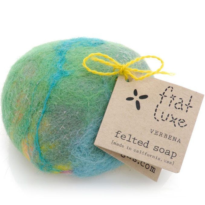 Fiat Luxe Rose Geranium Felted Soap