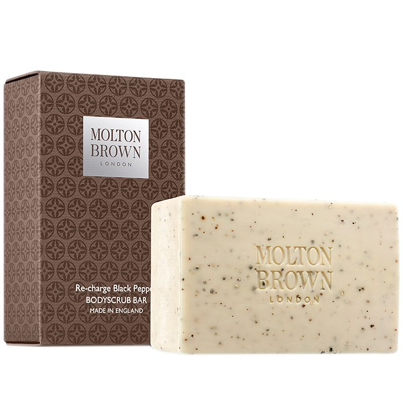 Molton Brown Re-Charge Black Pepper Bodyscrub Bar and box (8.8 oz)
