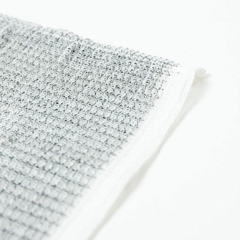 Morihata Binchotan Body Scrub Towel weave close-up