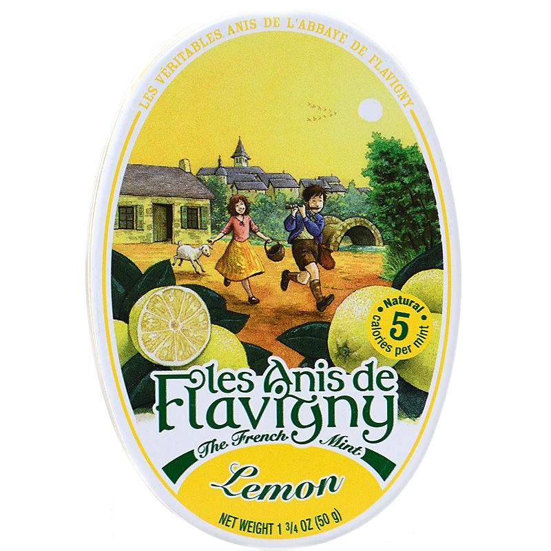 Les Anis de Flavigny Lemon Flavored Hard Candy (50 g) Closed Box