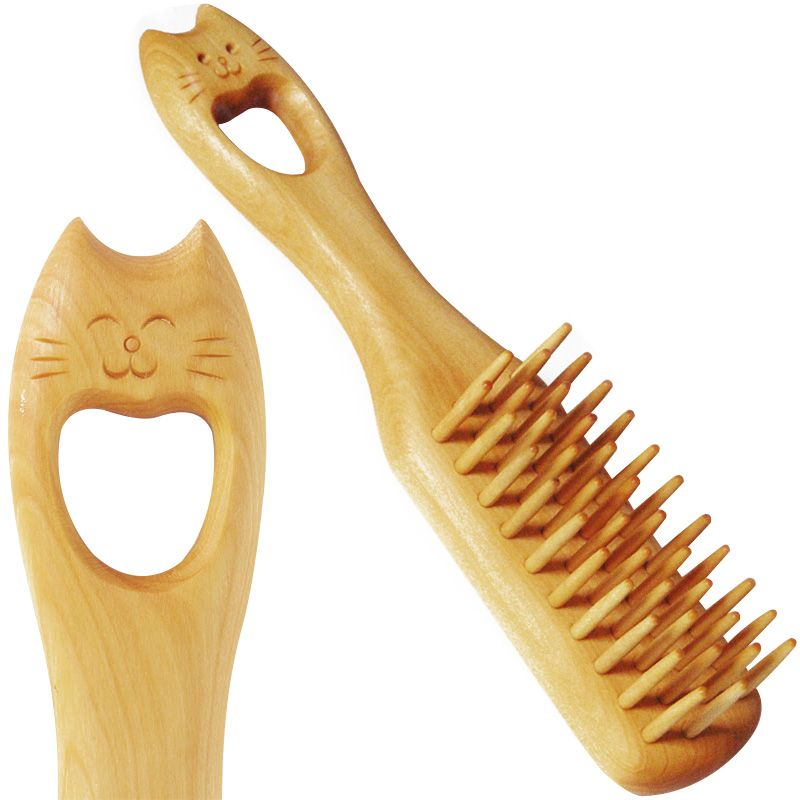 Neko (Cat) Tsuge Boxwood Hair Brush