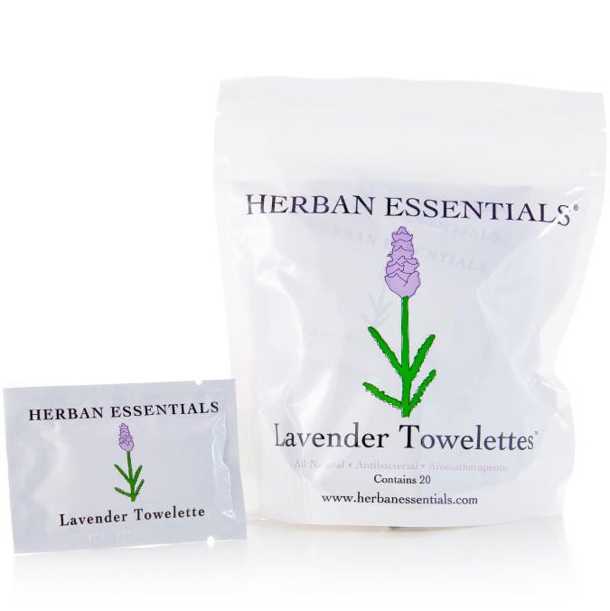 Herban Essentials Lavender Towelettes (20 pcs)