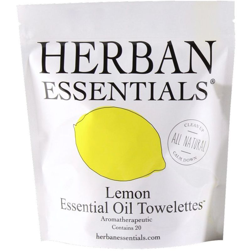 Herban Essentials Lemon Towelettes (20 pcs)