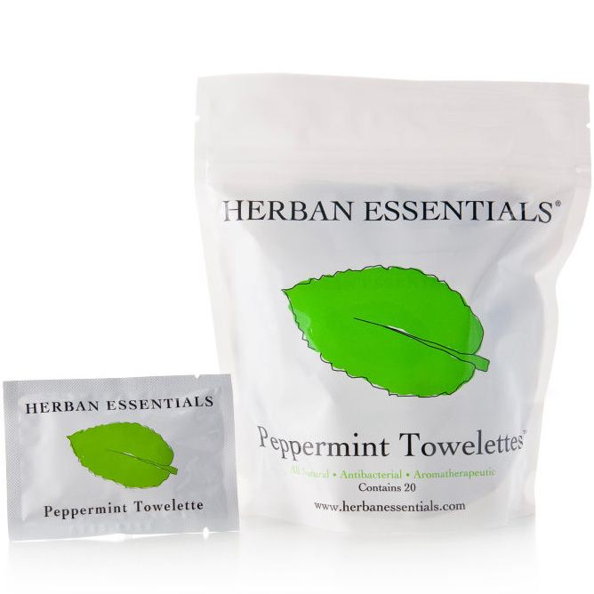 Herban Essentials Peppermint Towelettes (20 pcs)