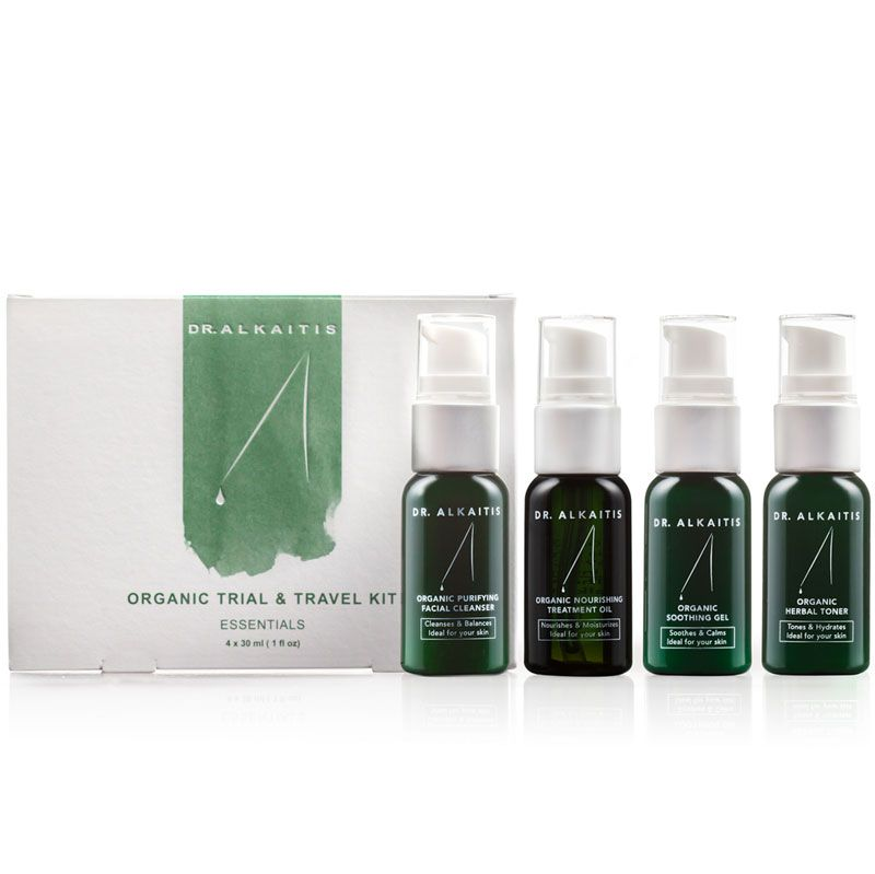 Dr. Alkaitis Organic Skin Care Travel Kit (4 x 30 ml) with box