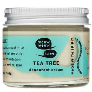 Meow Meow Tweet Deodorant Cream (Tea Tree, 2.4 oz)