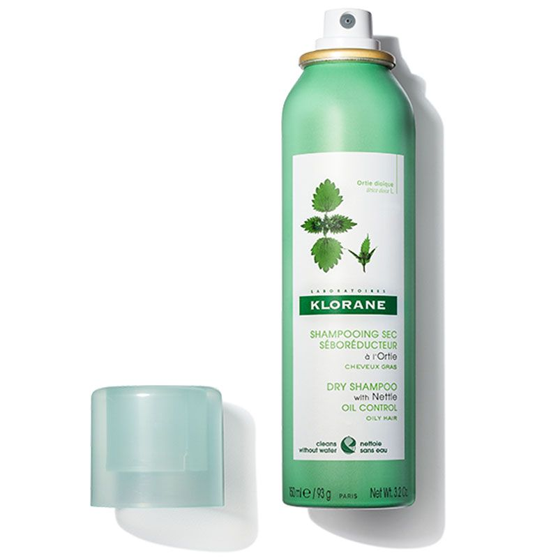 Klorane Dry Shampoo with Nettle Aerosol - All Hair Types (3.2 oz) cap off