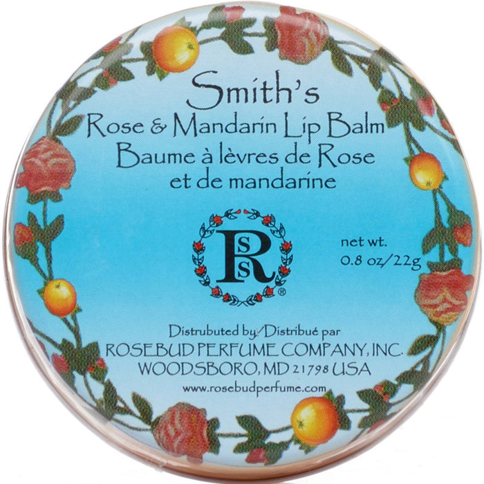 Rosebud Perfume Co. Smith's Rose & Mandarin Lip Balm - 22 g Tin