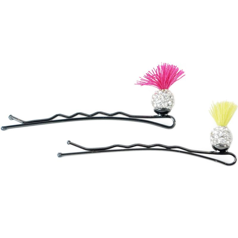 Jane Tran Sprouting Crystal Bobby Pins (Pink & Yellow)