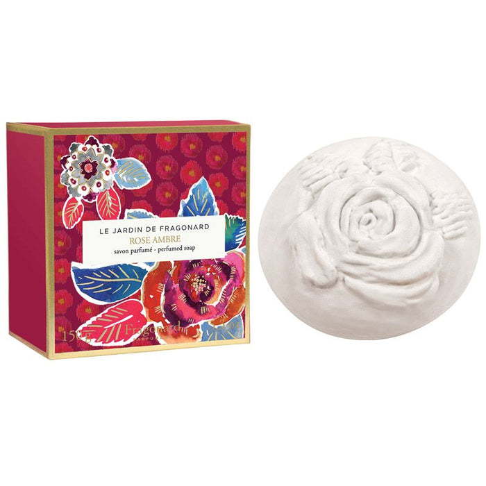 Fragonard Parfumeur Rose Ambre Perfumed Soap (150 g) with box