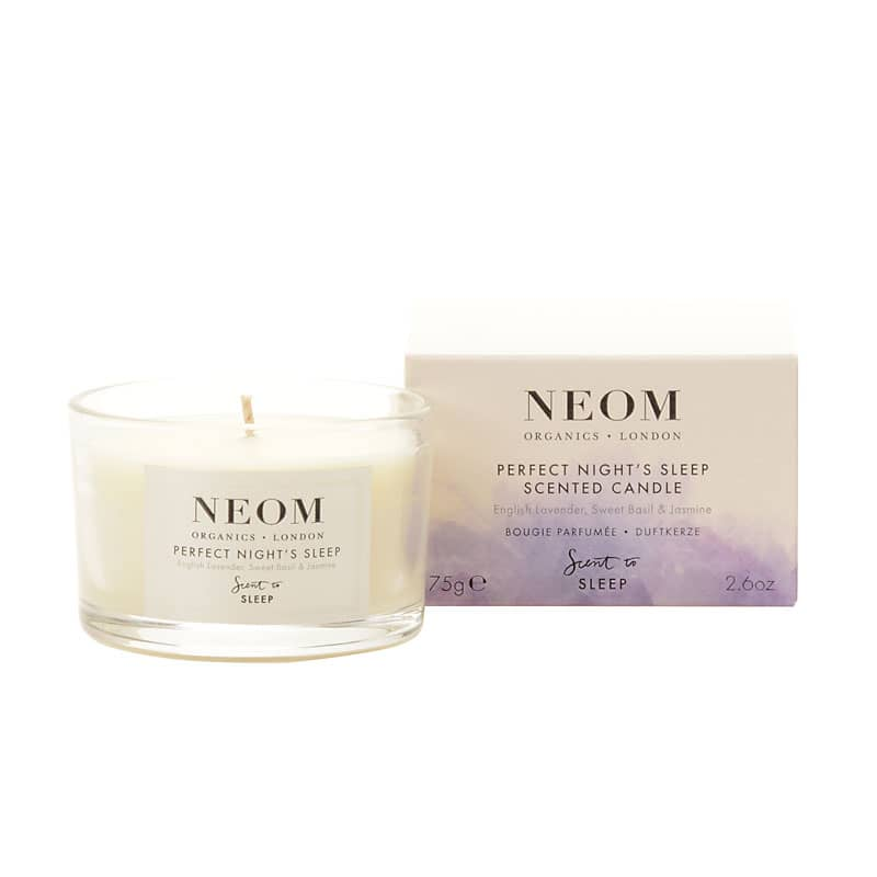 NEOM Organics Tranquility Candle / Perfect Night's Sleep Scent to Sleep Candle (75 g Travel)